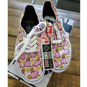 NWT Vans x Nintendo Princess Peach Shoes Size 8
